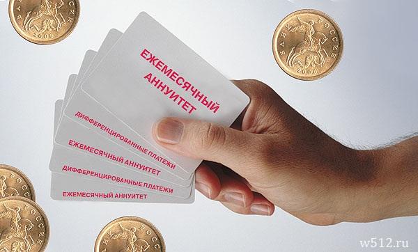 Погашение кредита при аннуитетных платежах