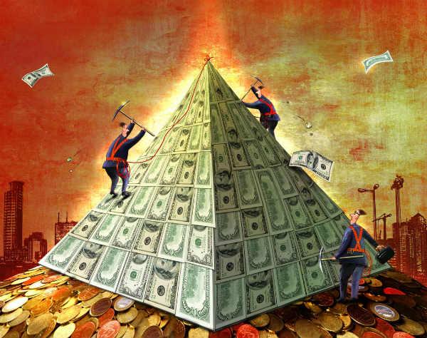Финансовые пирамида как способ дополнительного заработка